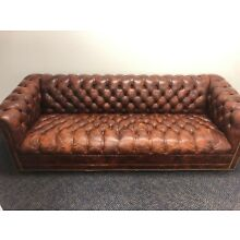 Mid Century Leathercraft Chesterfield Sofa