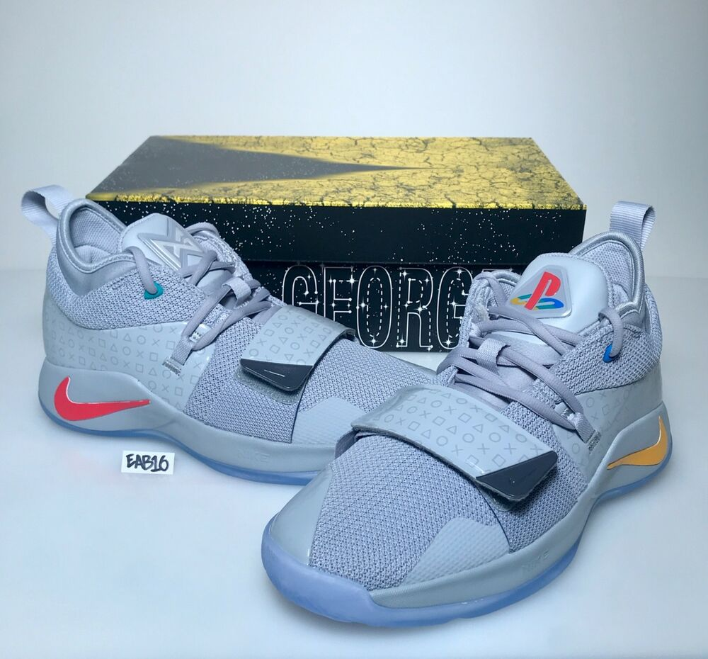 reputable site 98629 f4089 Nike PG 2.5 PlayStation Paul George PS4 Classic Wolf Grey Mens   Kids GS  Gray   eBay
