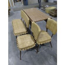 VINTAGE RETRO Nostalgia 50's 60's Dining kitchen table chairs RARE BENCH