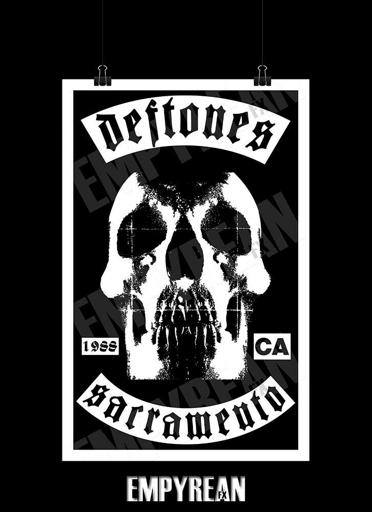 119f89691 Details about Deftones Self-Titled Skull Patch Style Artwork Poster Print