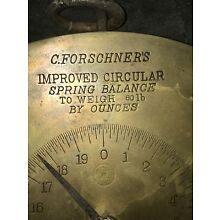 Antique Brass Hanging Scale, C. Forschner, New York/NY,( Butcher Scale)
