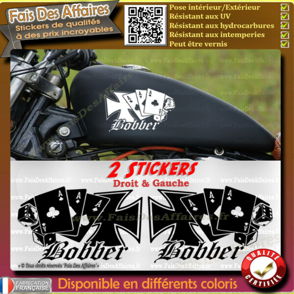 lot 2 stickers autocollant bobber motorcycle harley custom chopper old school