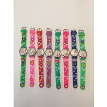 NEW CHILDREN CHARACTER WATCHES-- 1 PC--BARBIE--YOU CHOOSE BAND COLOR BELOW