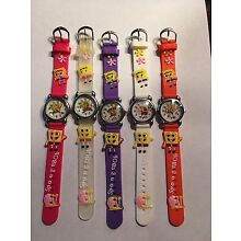 NEW CHILDREN CHARACTER WATCHES-- 1 PC--(SPONGE BOB)--YOU CHOOSE BAND COLOR BELOW