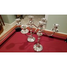 Fisher Sterling Silver Convertible Candelabras 1950's & Candlestick - SEE PICS.