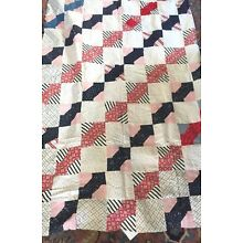 ATQ quilt topper, hand sewn, excellent condition  100% cotton 1920-30's 66 x 78