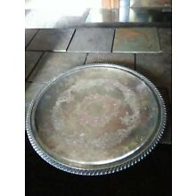 Sheffield Silver Co. USA, EPC Large  Footed Round Tray