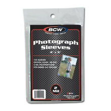 (200) BCW 4X6 PHOTO PICTURE IMAGE SOFT POLY ACID FREE STORAGE SLEEVE HOLDERS