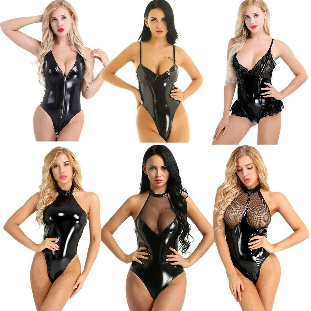 ef2bd4cc9a Details about Women Leotard Teddy Bodysuit Halter Backless Underwear Bodycon  Nightwear Catsuit