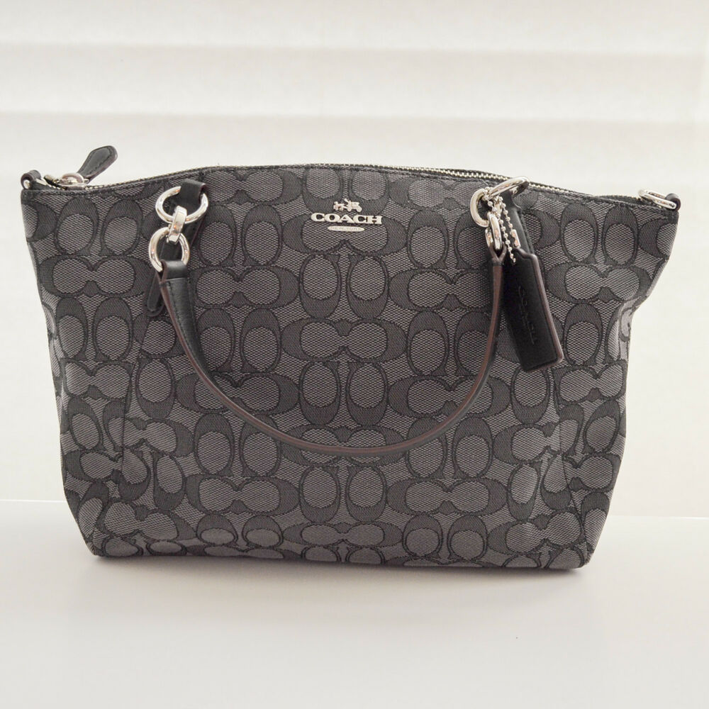 f3e83d77fb Details about Coach Small Kelsey Satchel F36625 Smoke Black