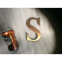 Vintage 6 inch Bronze letter S from a Bank