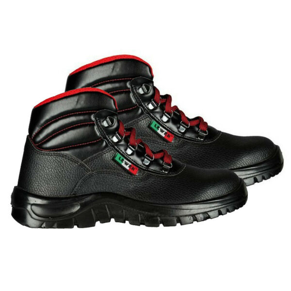 LEWER ART. 08040N-S1P SCARPE ANTINFORTUNISTICA ALTA NERO-ROSSO LOW SAFETY SHOES