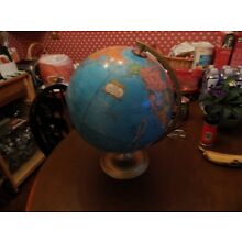"""Cram's World Globe Imperial 16"""" Tall Made In USA Geography"""