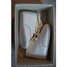 Vintage Mrs Day's Ideal White Baby Size 1 Shoes