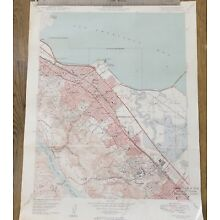 Vintage 1949 California Map~San Mateo~San Francisco Bay~CA USGS Topo Map