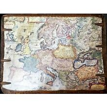 Henr. Hondio 1631 Europe Map / Europa Exactissime on Wood - Antiquity Collection