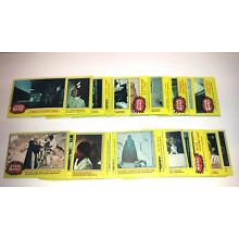Star Wars Series 3 Trading Cards Complete Base Set Yellow Border 66 Topps 1977