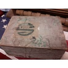 Antique Wallpaper Box Painting Lined Rhode Island Store Advert 1832 9