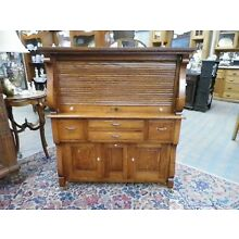 1910 Antique Quarter Sawn Oak Dental Cabinet by the American Cabinet Company