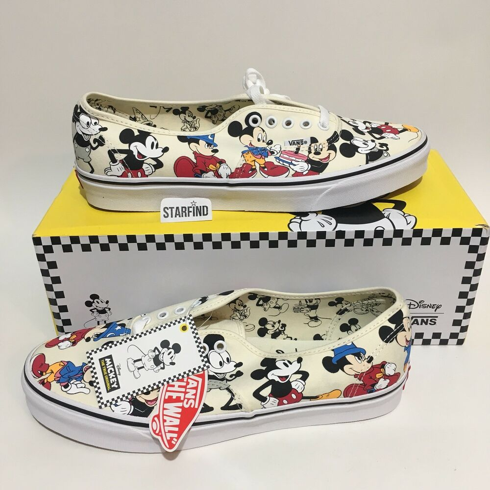 fac82102b5 Details about Vans Disney Mickey s 90th Birthday Authentic Mens 13 Shoes  SOLD OUT New wBox