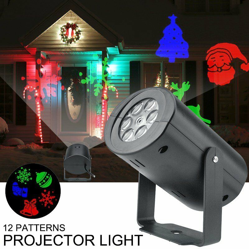 Details about 12 Pattern Motion Christmas Landscape Lights Projector LED  Spotlight Waterproof - 12 Pattern Motion Christmas Landscape Lights Projector LED Spotlight