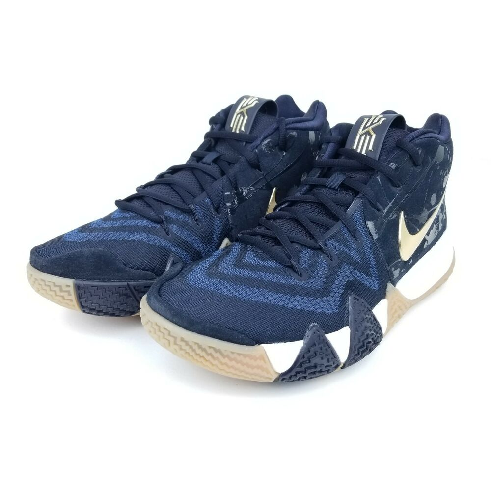 Details about Nike Kyrie 4 Pitch Navy Blue Metallic Gold White Green 943806  403 Men s Size    770b01ad0