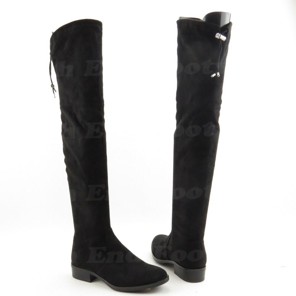 384862fe32f4ce Details about Sam Edelman Paloma Women s Over the Knee Black Suede Boots  Size 6 M New