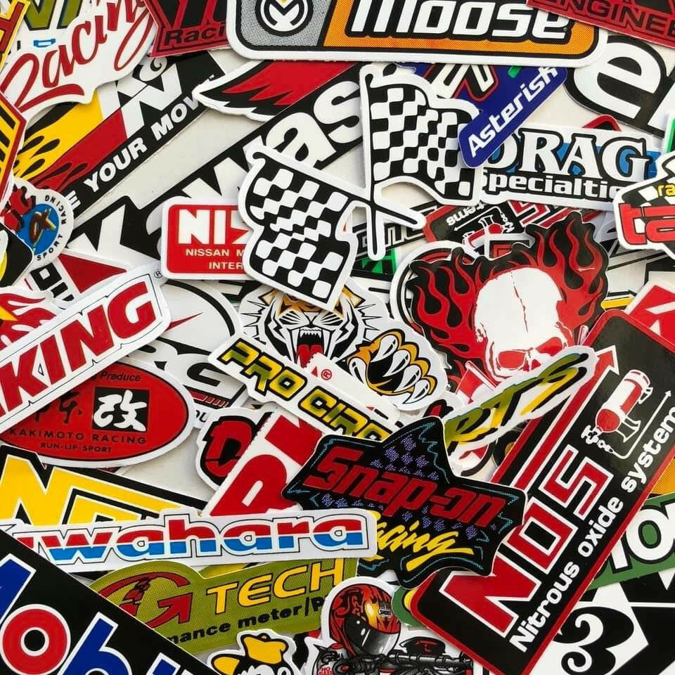 Details about new random mixed stickers decal motocross motorcycle car atv racing bike helmet