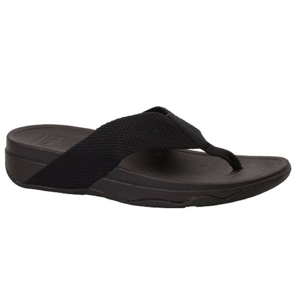 16a0f980c Women s FitFlops SURFA TOE POST H84-001 Black Slip-on Sandal Shoes ...