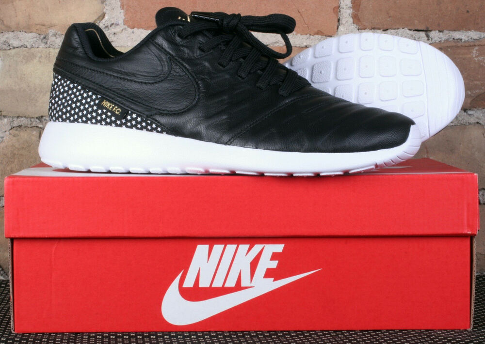 a9122c266f82 Details about New Nike Roshe Tiempo VI FC Black Leather Star Soccer Shoes 852613  002 Size 10.5