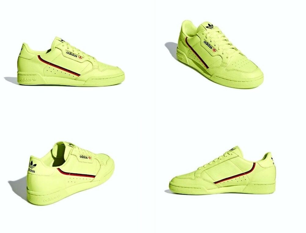 buy popular 7e674 ffcef Details about Adidas Continental 80 Shoes Leather Yellow Red Navy Mens Size  8 US B41675