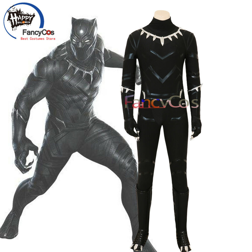 Details about Halloween Avengers Infinity War Black Panther Cosplay Costumes  Costume Jumpsuit