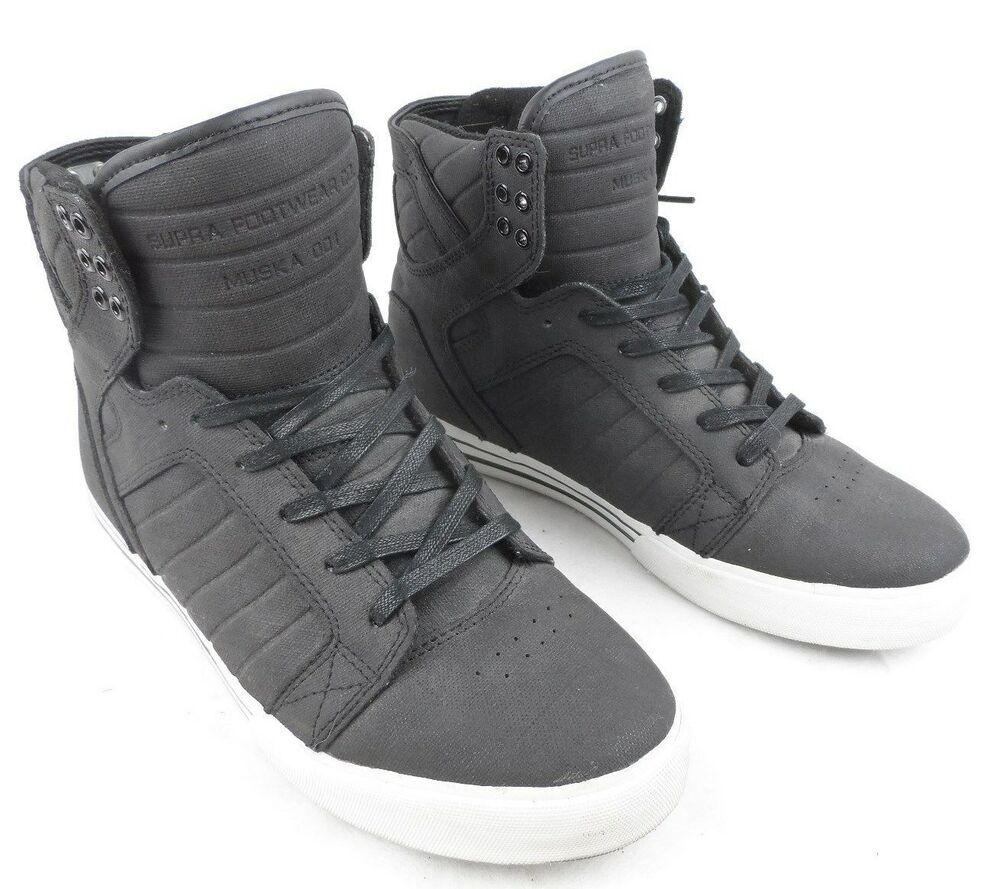 Details about Supra Skytop Muska 001 Mens High Top Skate Shoes Size 8 Euro  41 Excellent! cf1c0ed87f6c