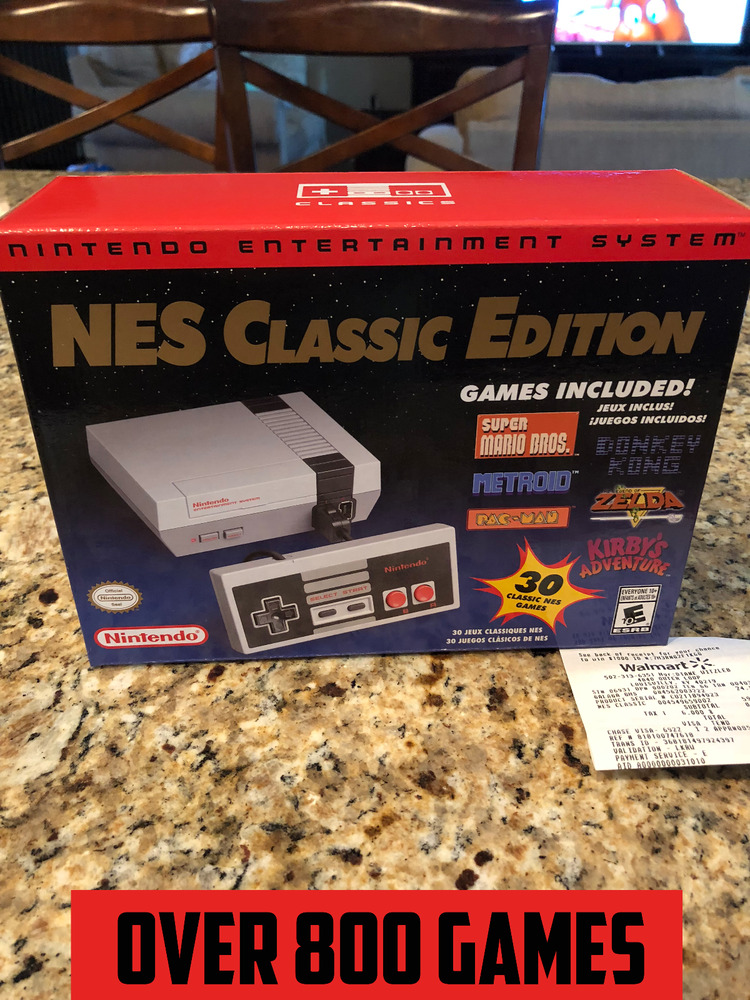 Authentic Nintendo Nes Classic Edition Mini With 800 Games