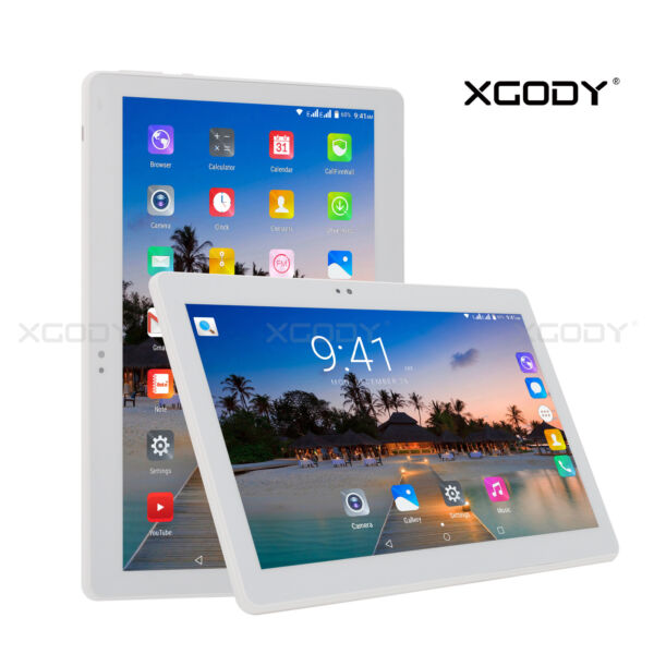 XGODY Android 6.0 10.1 Pouces HD Tablette tactile 1+16GB 3G GPS WIFI Dual SIM