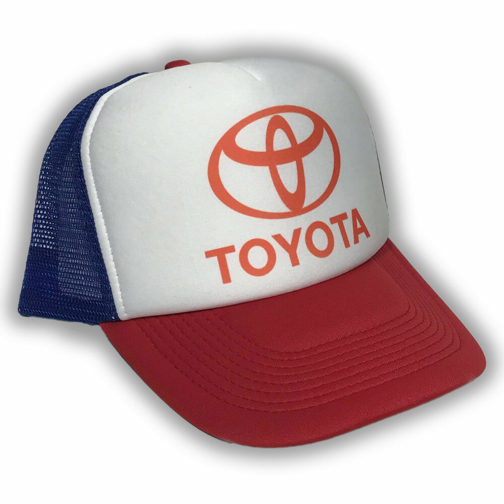 Details about toyota vintage style trucker hat dealer promo mesh racing cap  red white blue jpg 259151c23db7