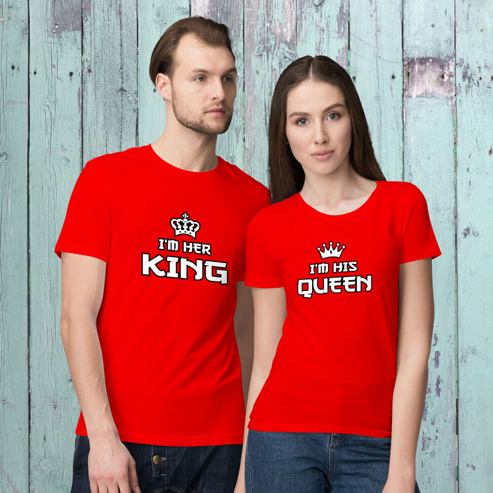 Im Her King And Im His Queen Valentines Day Matching T Shirts
