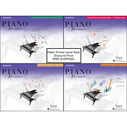 Faber Piano Adventures Primer Level - Pack Set (Lesson/Theory/Perf/Tech) NICE !!