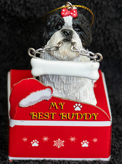 Details about Shih Tzu Black Puppy Statue with Bone Best Buddy Dog Breed  Christmas Ornament - Shih Tzu Black Puppy Statue With Bone Best Buddy Dog Breed Christmas