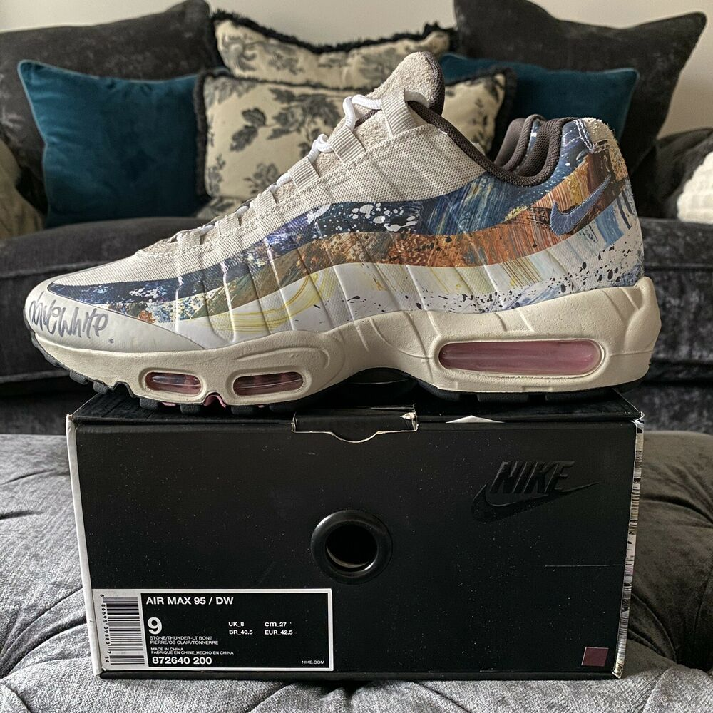 "2d9b257be2 Nike Air Max 95 X Dave White X Size ""Rabbit"" - SIGNED BY DAVE WHITE - Size  8 
