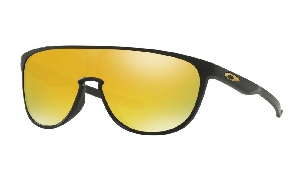 cd214e8be4 Details about Oakley Trillbe Sunglasses OO9318-06 Matte Black Frame W  24K  Gold Iridium Lens