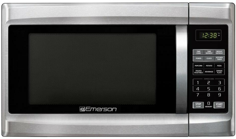 Emerson 1 3 Cu Ft Countertop Microwave Oven W 8 One