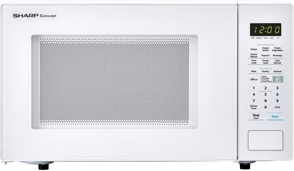 Sharp 1 4 Cu Ft Countertop Microwave Oven W Carousel