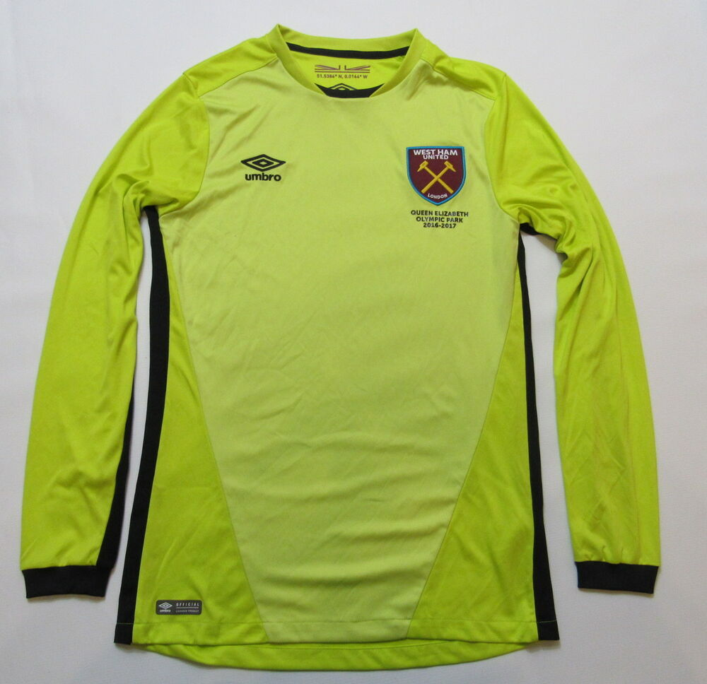 8f0db627c HAMMERS  WEST HAM UNITED Goalkeeper shirt jersey UMBRO 206-2017 adult SIZE  S
