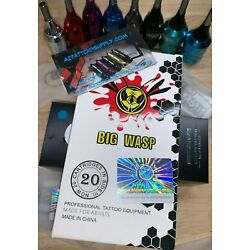 BIG WASP tattoo Needle Cartridges LINERS SHADERS OR CURVED MAG  FAST FROM  ARIZ.