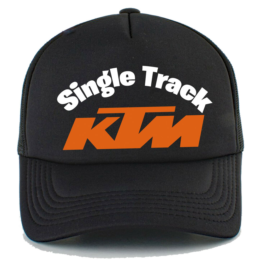 88030bcd Details about KTM Single Track - Trucker Hat with mesh back, Black or White
