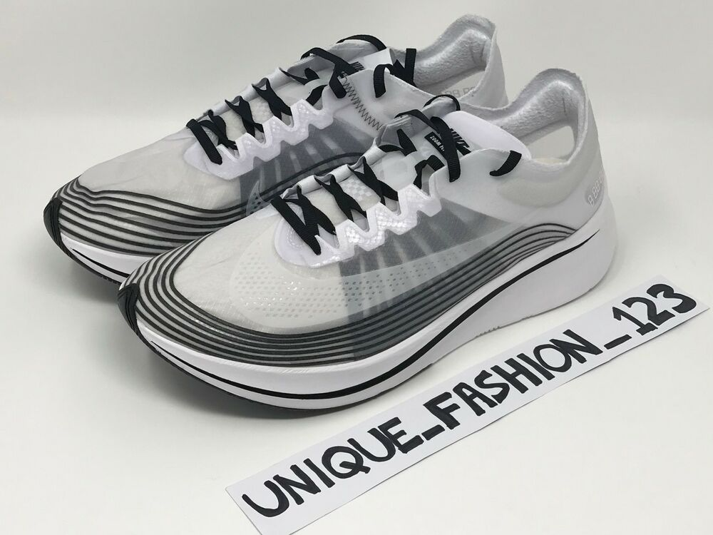 e9db0a85b674 Details about NIKE ZOOM FLY SP UK 5 6 7 8 9 10 11 12 AA3172-101 NIKELAB  BLACK WHITE BREAKING2