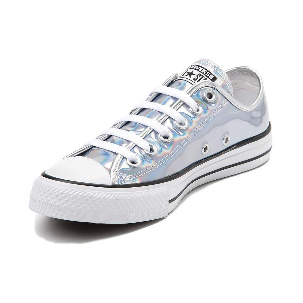 c50b3b9f6c2e5e Details about Converse Chuck Taylor All Star Lo Iridescent Sneaker Silver  Womens Sizes