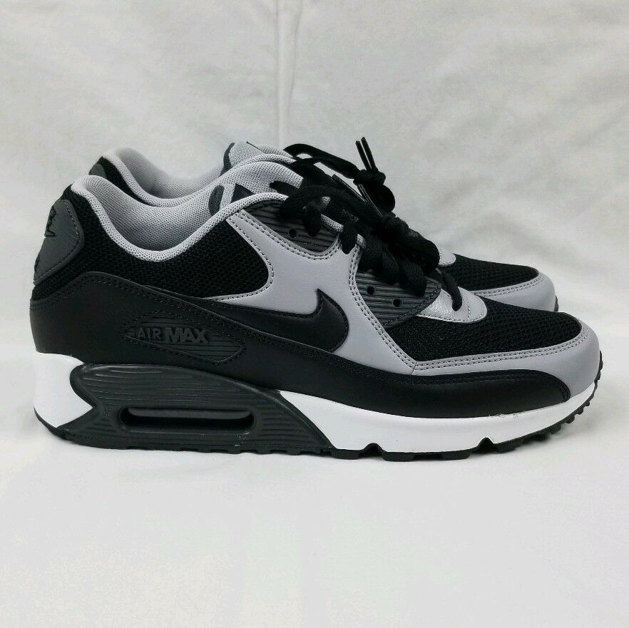 the latest 83a6d f2b5b Details about Nike Air Max 90 Essential Running Shoes Men s Sz 8.5 Black  Wolf Grey 537384-053