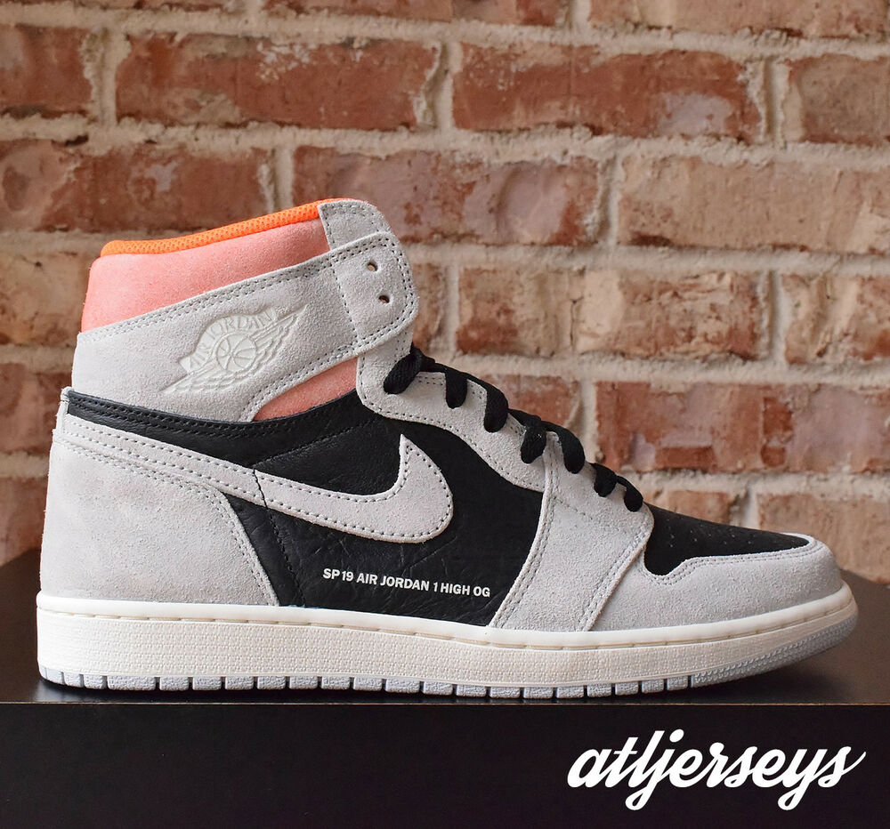 c4fe7b77f72 Details about DS Nike Air Jordan 1 Retro High OG Neutral Grey Hyper Crimson  555088-018 Size